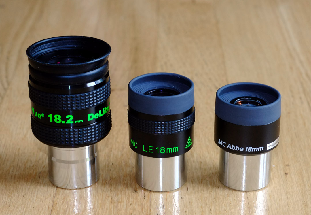 TeleVue 11mm DeLite and Takahashi 18mm